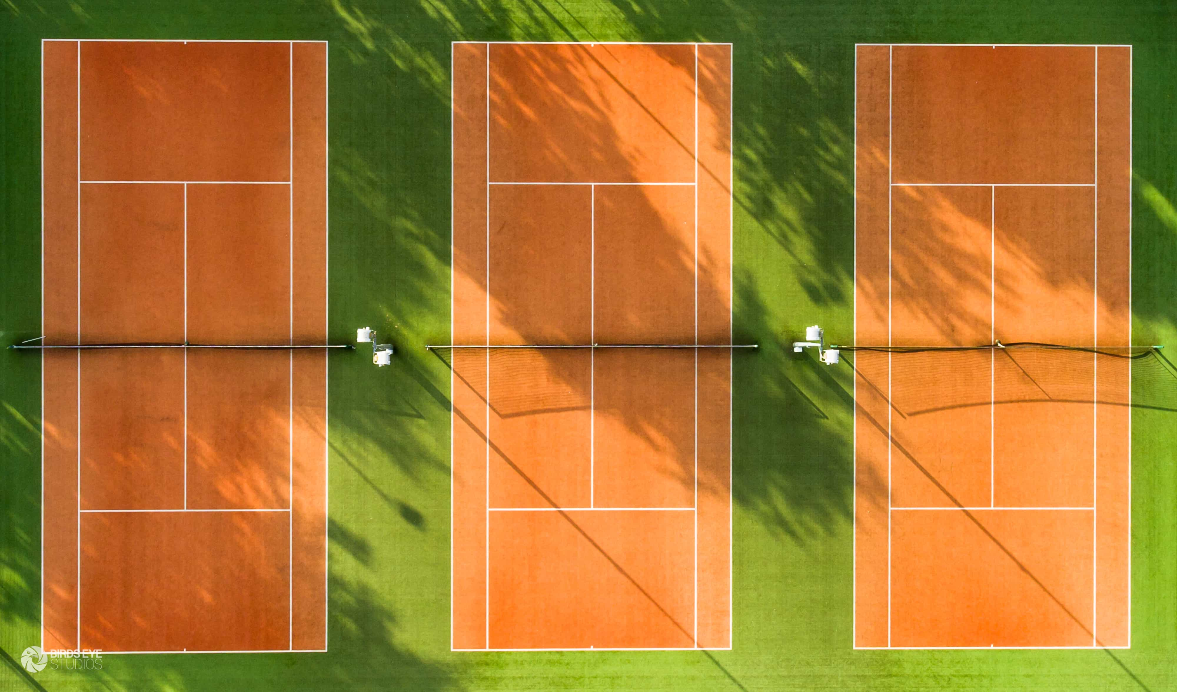 aerial tennis courts